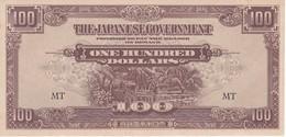 BILLETE DE JAPON DE 100 DOLLARS DEL AÑO 1944  (BANKNOTE) OCUPACION DE MALASIA (SIN CIRCULAR-UNCIRCULATED - Japón