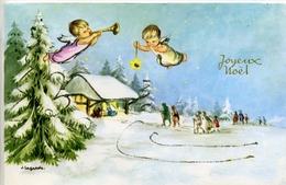 Illustrateur - J. LAGARDE - Joyeux Noël - Crèche. Carte à Système Pop-up - Autres Illustrateurs
