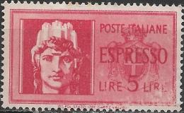 ITALY 1945 Express - Italia - 5l - Red MNH - 5. 1944-46 Lieutenance & Umberto II