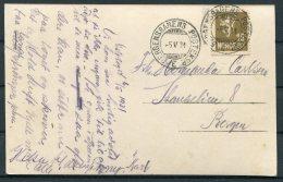 1931 Norway Traengereid Postcard. Bergensbanens TPO Railway - Bergen. - Norway