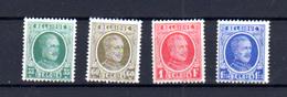 1927  Belgique, Albert 1er, Houyoux, 254  / 257**, Cote 30 €, - 1922-1927 Houyoux