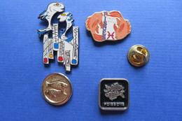 Lot De 4 Pin's,signe Zodiaque POISSON, PISCES,FISCH - Other