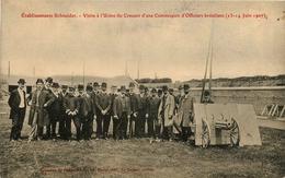 Le Creusot * établissement Schneider * Visite à L'usine Du Creusot D'une Commission D'officiers Brésiliens * Brésil - Le Creusot