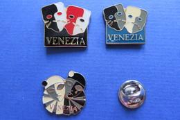 Lot De 3 Pin's,VENEZIA, VENISE, Masque,Masken - Other