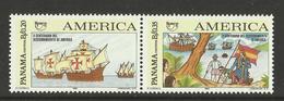 PANAMA  1992 UPAEP CENTENARY OF DISCOVERY OF AMERICA SET MNH - Panama