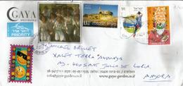 Tombeau Des Patriarches (Mosquée Al-Ibrahim) Judea, Sur Lettre Israel Adressée Andorra, Avec Timbre à Date Arrivée - Judaisme