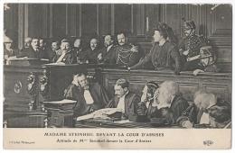 Marguerite STEINHEIL (Maîtresse De Félix Faure) Devant La Cour D'assises Novembre 1909 - Accusée Du Meutre De Son Mari - Femmes Célèbres