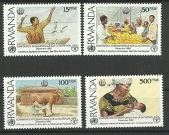 RWANDA  1992  WORLD CONFERENCE ON NUTRITION SET MNH - 1990-99: Ongebruikt