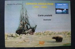 Roumanie - Entier Postal Neuf - Expédition Polaire Vasului Fram 1893/1896 - Voilier Pris Dans Les Glaces - Ships