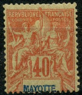 Mayotte (1892) N 10 * (charniere) - Mayotte (1892-2011)