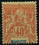 Mayotte (1892) N 10 * (charniere) - Unused Stamps