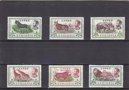 Etiopia Nº 371 Al 376 Con Charnela - Etiopía