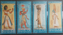 E11e24 - Egypt UAR 1969 SG 970-973 Cplte Set 4v. MLH - Post Day, Pharaonic Dress - Egypt