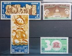 E11e24 - Egypt UAR 1976 SG 1298-1301 Cplte Set 4v. MLH - United Nations Day, Archeology - Egypt