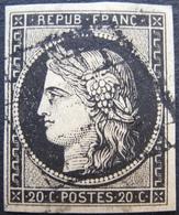 R1730/50 - CERES N°3 - GRILLE NOIRE - Cote : 65,00 € - 1849-1850 Ceres