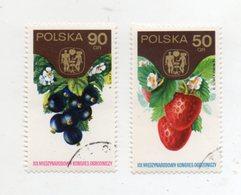 """POLONIA - 1974 - Lotto Due Francobolli Tematica """" Frutta """" - Usati - (FDC10945) - Frutta"""