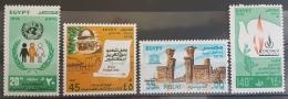 E11e24 - Egypt 1978 SG 1365-1368 MNH Cplte Set 4v. - United Nations Day, Nubian Monuments, Dove, Olive Branch, Palestine - Egypt