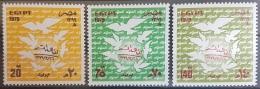 E11e24 - Egypt 1978 SG 1385-1387 MNH Cplte Set 3v. - Signing Of Egyptian-Israeli Peace Treaty - Egypt