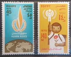 E11e24 - Egypt 1979 SG 1397-1398 MNH Cplte Set 2v. - United Nations Day, Human Rights & Child Itnl Year - Egypt