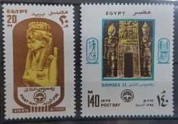 E11e24 - Egypt 1979 SG 1378-1379 MNH Cplte Set 2v. - Post Day, Daughter Of Ramses II & Statues Of Ramses II - Egypt