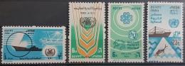 E11e24 - Egypt 1983 SG 1518-1521 MNH Cplte Set 4v. - United Nations Day, OMI, FAO, UIT, Sea Fishing - Ungebraucht
