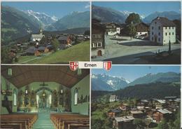 Ernen - Dorfplatz, Kirche, Mühlebach - Photo: Klopfenstein - VS Valais