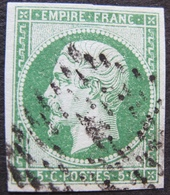 "R1730/53 - NAPOLEON III N°12 - BUREAU "" A "" DE PARIS - Cote : 95,00 € - 1853-1860 Napoléon III"