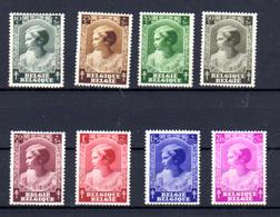 1937  Belgique, Princesse Joséphine-Charlotte, 458 / 465**, Cote 30 €, - Belgique