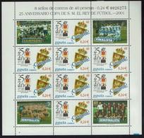 Spanien Espana 2001 - Fußball Football - Copa Del Rey - MiNr 3641 Kleinbogen - Ungebraucht