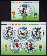 Korea-Nord 2007 - Fußball Football -Weltmeisterschaft Der Frauen, China - MiNr Block 674+675 - Ungebraucht