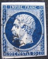 R1749/254 - NAPOLEON III N°14Aa Bleu Très Foncé - LPC - 1853-1860 Napoléon III