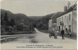 39 CHAMPAGNOLE . La Billaude Animée , Attelage De Boeufs , RN5 ,édit : , écrite En 1924 ,état Extra - Frankrijk