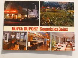 C.P.A. 48 BAGNOLS LES BAINS : Hotel Du Pont, Restaurant - France