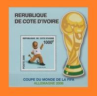 IVORY COAST COTE D'IVOIRE LIONS SOCCER WORLD CUP COUPE MONDE FOOTBALL GERMANY ALLEMAGNE MASCOTTE RARE MNH - Coupe Du Monde