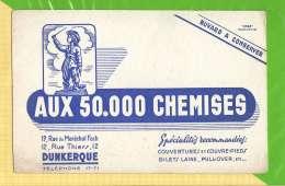 BUVARD & Blotting Paper : Aux 50 000 Chemises  DUNKERQUE JEAN BART - Textile & Clothing