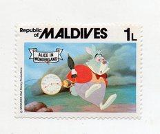 Maldive - 1980 - Francobollo Tematica Disney - Alice Nel Paese Delle Meraviglie - Nuovo - (FDC10954) - Maldive (1965-...)