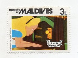Maldive - 1980 - Francobollo Tematica Disney - Alice Nel Paese Delle Meraviglie - Nuovo - (FDC10955) - Maldive (1965-...)