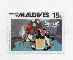 Maldive - 1980 - Francobollo Tematica Disney - Alice Nel Paese Delle Meraviglie - Nuovo - (FDC10957) - Maldive (1965-...)