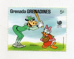 Grenada - 1988 - Francobollo Tematica Disney - Baseball - Nuovo - (FDC10959) - Grenada (1974-...)