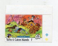 Turks & Caicos Island - 1985 - Francobollo Tematica Disney - Pirati Dei Caraibi - Nuovo - (FDC10960) - Turks E Caicos