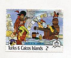 Turks & Caicos Island - 1985 - Francobollo Tematica Disney - Pirati Dei Caraibi - Nuovo - (FDC10961) - Turks E Caicos