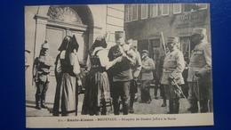 MASEVAUX  Reception Du Marechal Joffre HOTEL COLDEMEN MILITAIRES COIFFE ALSACIENNE 1916 - Masevaux