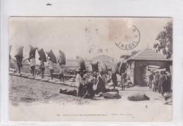 SENEGAL. MANUTENTION DES ARACHIDES. FORTIER, PHOTO. CIRCULEE URUGUAY. CIRCA 1904.- BLEUP - El-Oued