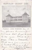 CPA : Old Fields Cricket Club  From President John Bramford    Mount Pleasant USA - Cricket