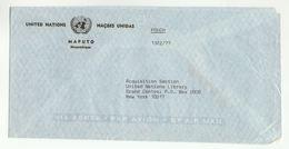 UN In MOZAMBIQUE Via DIPLOMATIC BAG 'Pouch' MAPUTO To UN NY USA United Nations Cover - Mozambique