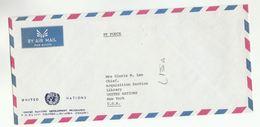 UN In SRI LANKA Via DIPLOMATIC BAG 'Pouch' COLOMBO To UN NY USA United Nations Cover Undp - Sri Lanka (Ceylon) (1948-...)