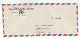 UN In COLOMBIA Via DIPLOMATIC BAG 'Pouch' BOGOTA To  UN NY USA  United Nations Cover Undp - Colombia