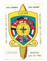 CANADA XXXIII CONGRESS ITALIAN DELEGATION ILLUSTRAZIONE ALFANO VIAGGIATA FG - Montreal