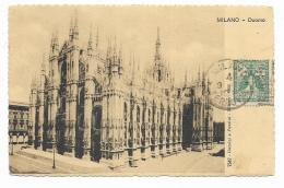 MILANO - DUOMO 1922 VIAGGIATA FP - Milano (Milan)