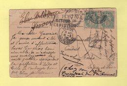 Type Blanc - Carte De Vesoul 1905 - Retour A L Envoyeur - Inconnu - Marcophilie (Lettres)
